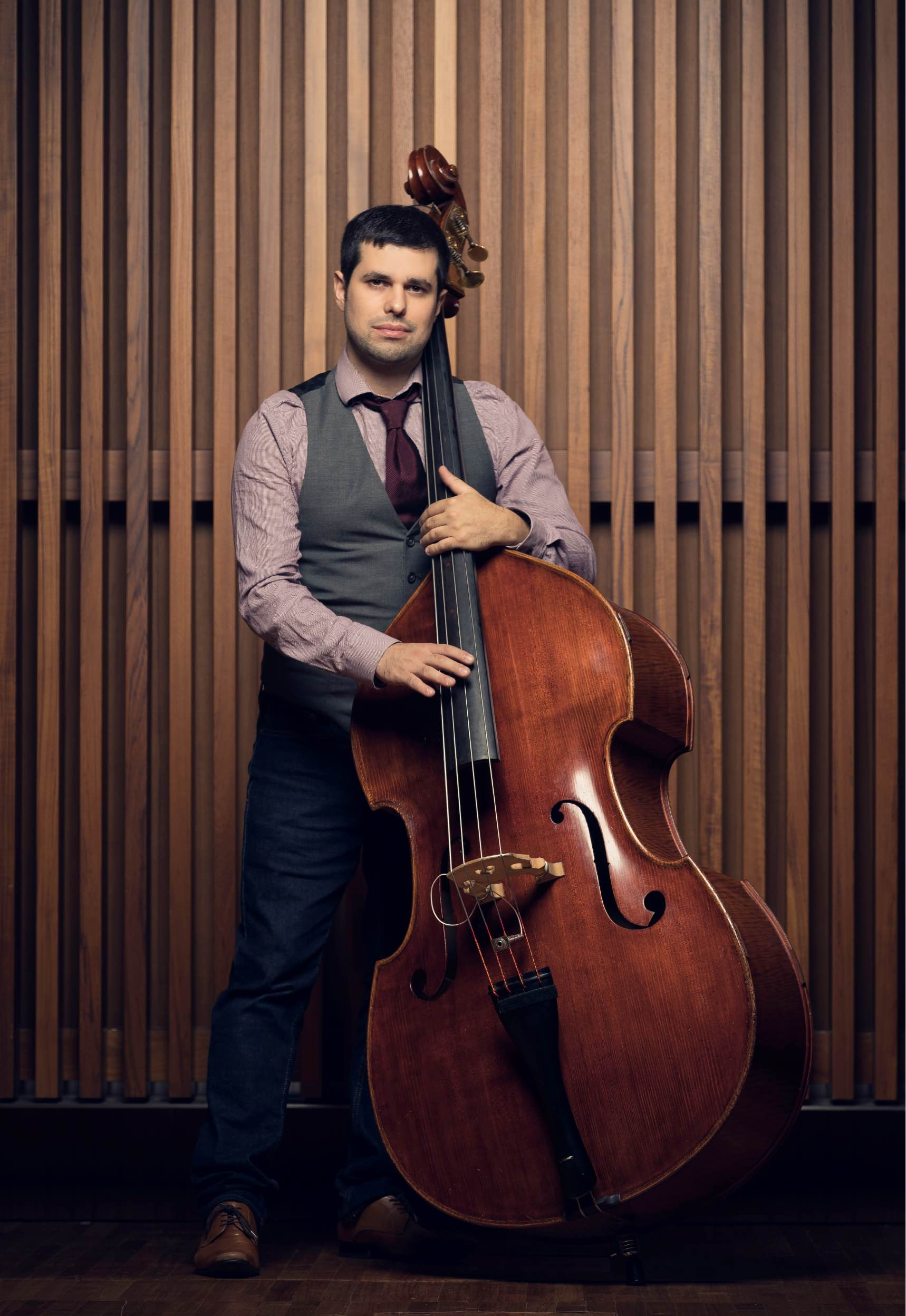 Justin Gray with Double Bass